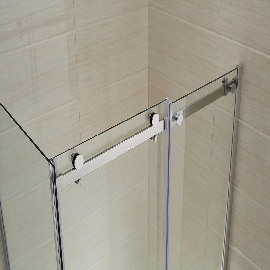 120x 80x195cm schiebet r mit seitenwand duschkabine 8mm nano glas duscht r ebay. Black Bedroom Furniture Sets. Home Design Ideas